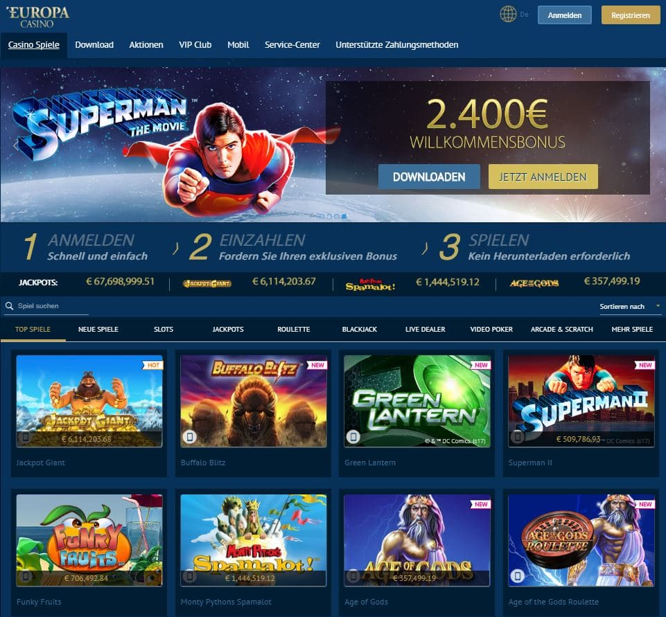 Europa Casino 10 Euro Gratis