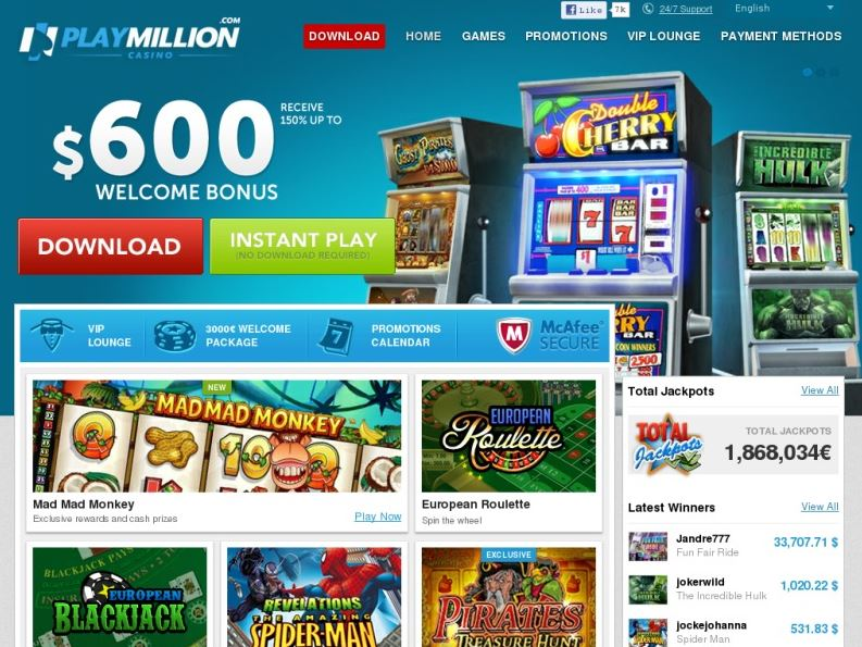 Das Playmillion Casino testen