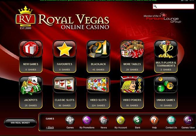 Das Royal Vegas Casino testen